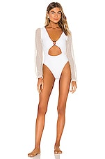 LOVEWAVE The Emily One Piece in White