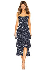 LIKELY Maisie Floral Leros Dress in Navy Multi