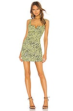LIKELY Mini Leopard Constance Dress in Yellow Leopard