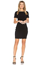 LIKELY Scallop Manhattan Dress in Black
