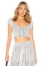 LIKELY Faye Top in White Stripe