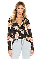 LIKELY Sophia Floral Mimi Top in Black Multi