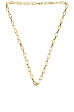 Lili Claspe Lara Link Lariat Necklace in Gold