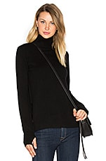 Serena Mock Neck Sweater in Caviar