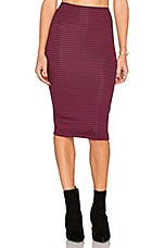 Striped Pencil Skirt in Maroon