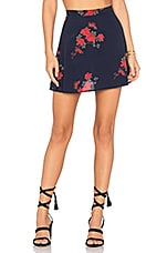 A Line Skirt in Navy Floral