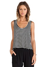 Stripe Tank in Black & White