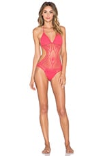 Grease Monkey Swimsuit in Coral