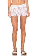 Buddy Ruffles Crochet Short in White