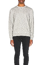 LEVI'S: Made & Crafted Geo Fleece Crewneck in Terry Grey