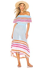 Lemlem Eskedar Beach Dress in Light Sky Blue