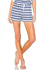 Lemlem Lulu High Waist Shorts in Blue