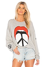 Lauren Moshi Babbs Boyfriend Sweatshirt in Heather Grey
