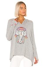 Lauren Moshi Wilma Sweatshirt in Heather Grey