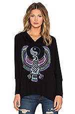 SWEAT À CAPUCHE WILMA ELEMENTS YIN YANG EAGLE