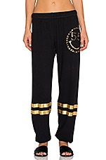 PANTALON FOIL CHAIN HAPPYFACE LEG WITH STRIPES