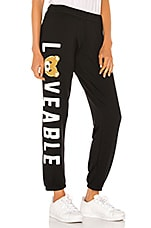 Lauren Moshi Brynn Sweatpant in Black