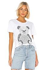 Lauren Moshi Bandana Bear Wolf Tee in White