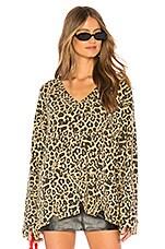 LNA Leopard Bitten Sweater in Leopard