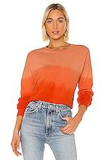 LNA Drop Shoulder Sweatshirt in Red Ombre