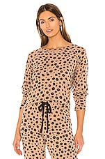 LNA Brushed Pullover in Cheetah