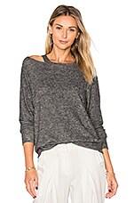 Bolero Cut Out Sweater in Melange Grey