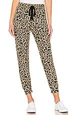 LNA Brushed Leopard Pant in Leopard