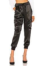 LNA Shine Cargo Pants in Black