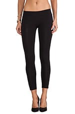 Zipper Legging in Flat Black