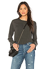 LNA Hazel Blouse in Charcoal