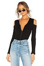 LNA Shasta Zip Top in Black