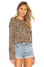 LNA Leopard Nat Long Sleeve Tee in Leopard