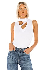LNA Thea Rib Top in White