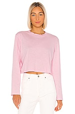 LNA Em Long Sleeve Tee in Candy Pink