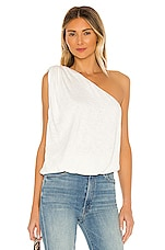 LNA One Shoulder Top in White