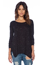 Coast Long Sleeve Top in Black