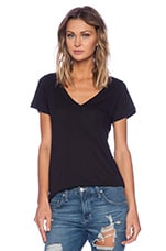 Deep V Tee in Black
