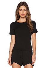Harper Open Back Tee in Black