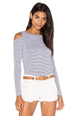 Ashley Jane Stripe Top en Navy Stripe