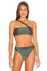 LNA Safari Asymmetric Bikini Top in Army