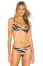 LNA Celine Underwire Bikini Top in Tiger