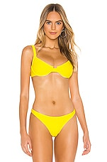 LNA Celine Underwire Bikini Top in Pineapple