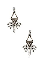 Swarovski Crystal Stellan Earrings in Brass