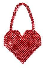 Loeffler Randall Maria Beaded Heart Tote in Red