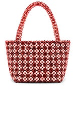 Loeffler Randall Beaded Tote in Coquille & Amber