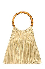 Loeffler Randall Mattie Bamboo Handle Pouch in Gold