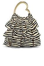 Loeffler Randall Izzie Heart Handle Tote in Zebra