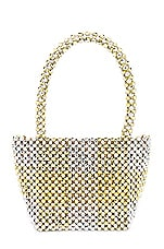 Loeffler Randall Mina Beaded Mini Tote in Gold & Silver