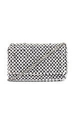 Loeffler Randall Mimi Beaded Clutch in Silver
