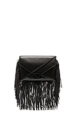 Fringe Lock Clutch in Black & Black